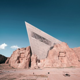 Mohammad Hassan Forouzanfar - Dresden Museum of Military History by Daniel Libeskind combined with Naqsh-e Rostam