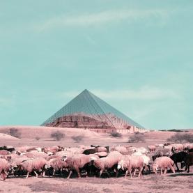 Mohammad Hassan Forouzanfar - I M Pei's Louvre pyramid over Chaqazanbil
