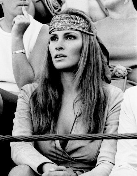 Raquel Welch ad Almeria, in Spagna, nel 1968