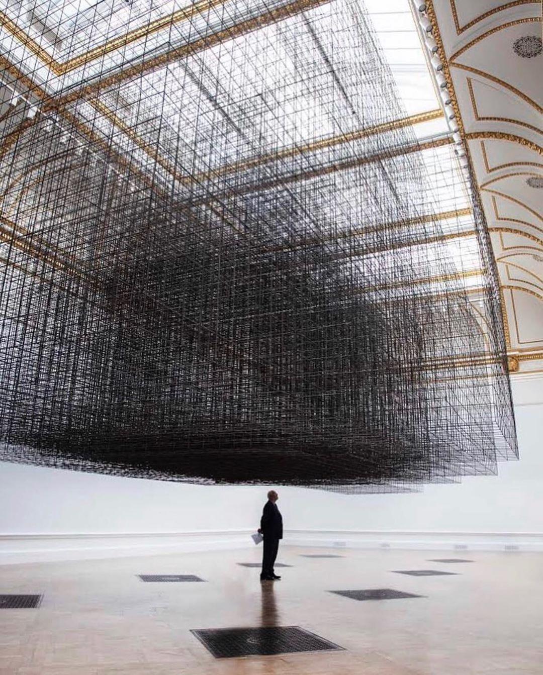 Antony Gormley, Matrix III, 2019. Installation view, 'Antony Gormley', Royal Academy of Arts, London, 21st September to 3rd December 2019.