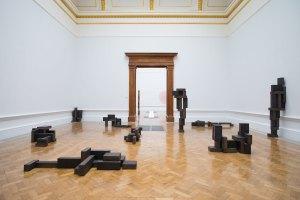 Antony Gormley, Slabworks series, 2019. Installation view, 'Antony Gormley', Royal Academy of Arts, London, 21st September to 3rd December 2019.