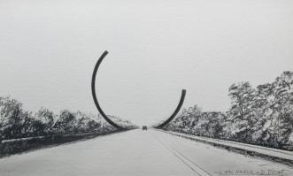 """Arc Majeur"" by Bernar Venet @ Belgio - Photo META MORPHOSIS"