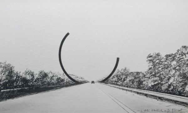 """Arc Majeur"" by Bernar Venet @ Belgio - Photo META MORPHOSIS"