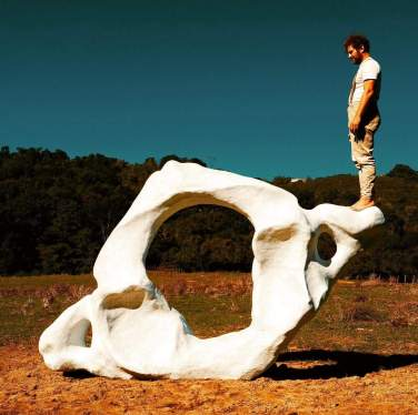 Sculpture by Davide Dormino @ Parco di Veio, Rome, Italy. Opening 12 October h. 10.30