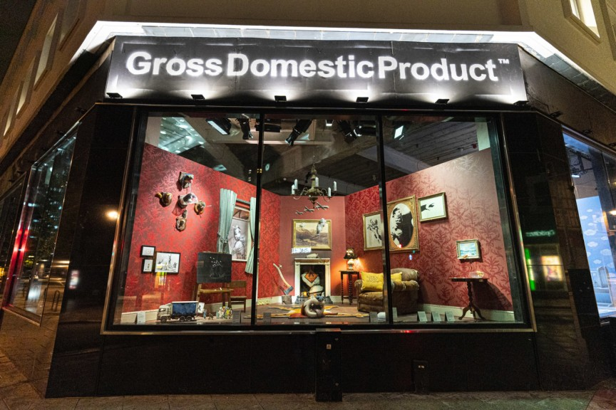 """Gross Domestic Product"" by Banksy @ London, UK"