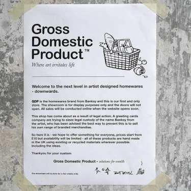 """Gross Domestic Product"" by Banksy @ London"