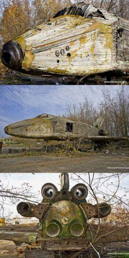 Navicella spaziale dell'era sovietica abbandonata