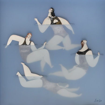 """The swimmers III. The gathering"" by Sonia Alins"