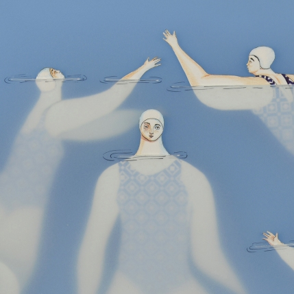 """""""The Swimmers"""" (detail) by Sonia Alins"""