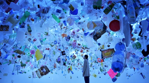 """Plastic Ocean"" (2016) by Tan Zi Xi @ Singapore Art Museum"