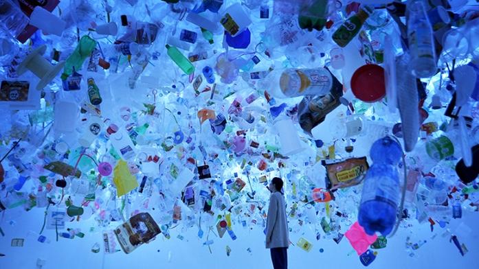 """Plastic Ocean"" (2016) by Tan Zi Xi @ Singapore Art Museum"