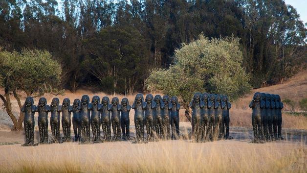 Yue Minjun, Contemporary Terracotta Warriors, 2005. Donum Estate
