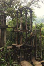 Las Pozas, Xilitla. E il giardino surrealista Edward James Garden. Las Pozas si trova vicino al villaggio di Xilitla, ed è un giardino con più di 80 acri