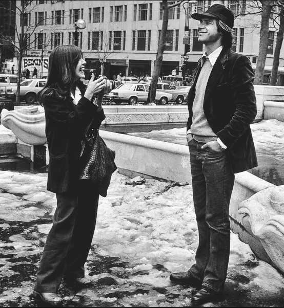 Carrie Fisher e Harrison Ford, 1977