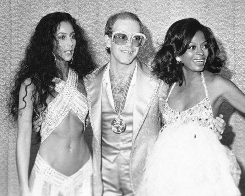Cher, Elton John & Diana Ross, 1975