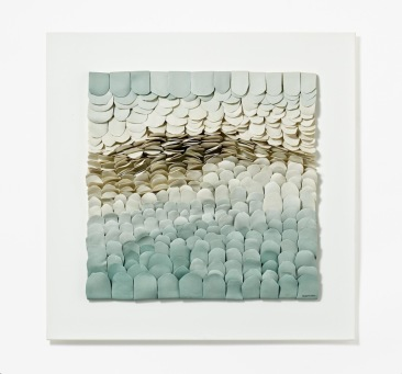 Jeanne Opgenhaffen (Porcelain, partially colored, on plastic plate)