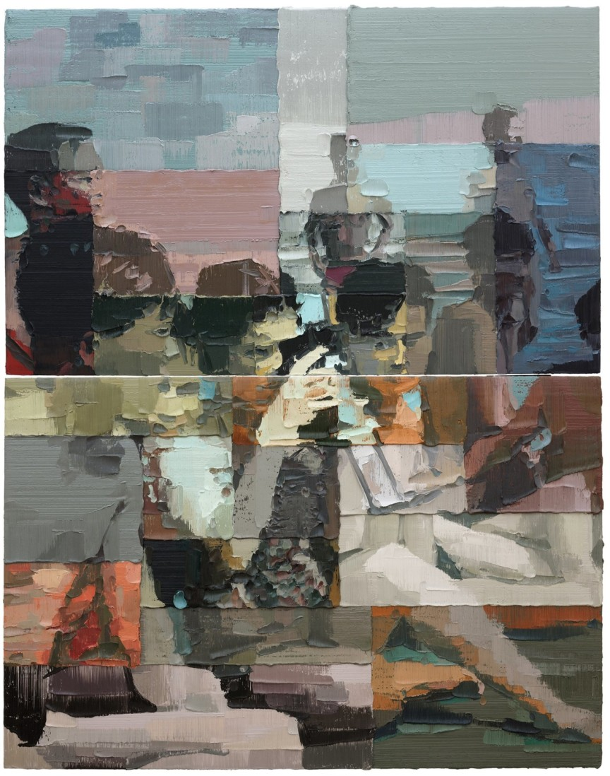 """""""South"""" (2017), oil on canvas, 10′ 9-15/16 x 8' 6-3/8 inches © Li Songsong, courtesy Pace Gallery"""