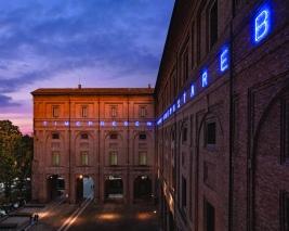 Maurizio Nannucci, TIME, PAST, PRESENT AND FUTURE, 2019, courtesy Caomplesso Monumentale della Pilotta, realizzata grazie al sostegno dell'Italian Council (2018), ph Annarita Melegari