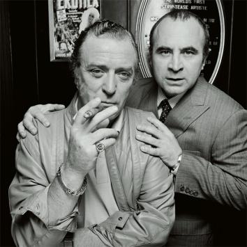 Michael Caine e Bob Hoskins, 1985