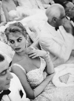 Sophia Loren al Festival del cinema di Venezia, 1955