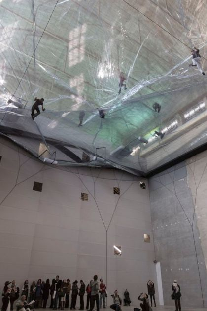 """On Space Time Foam"" (2012) by Studio Tomas Saraceno @ HangarBicocca, Milan. Photography by Alessandro Coco"