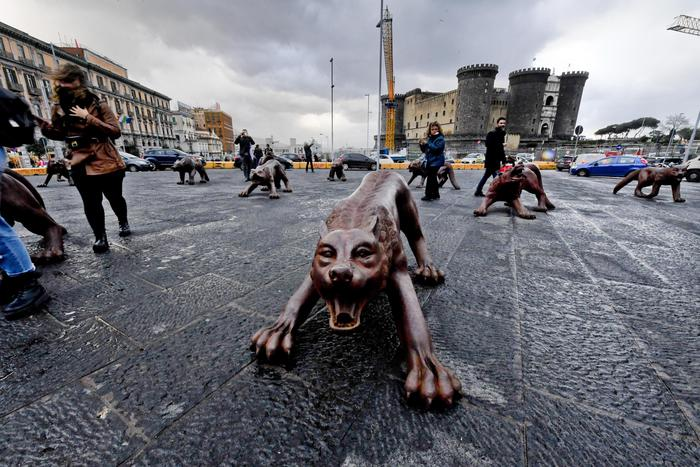 """Wolves Coming"" by Liu Ruowang @ Napoli"