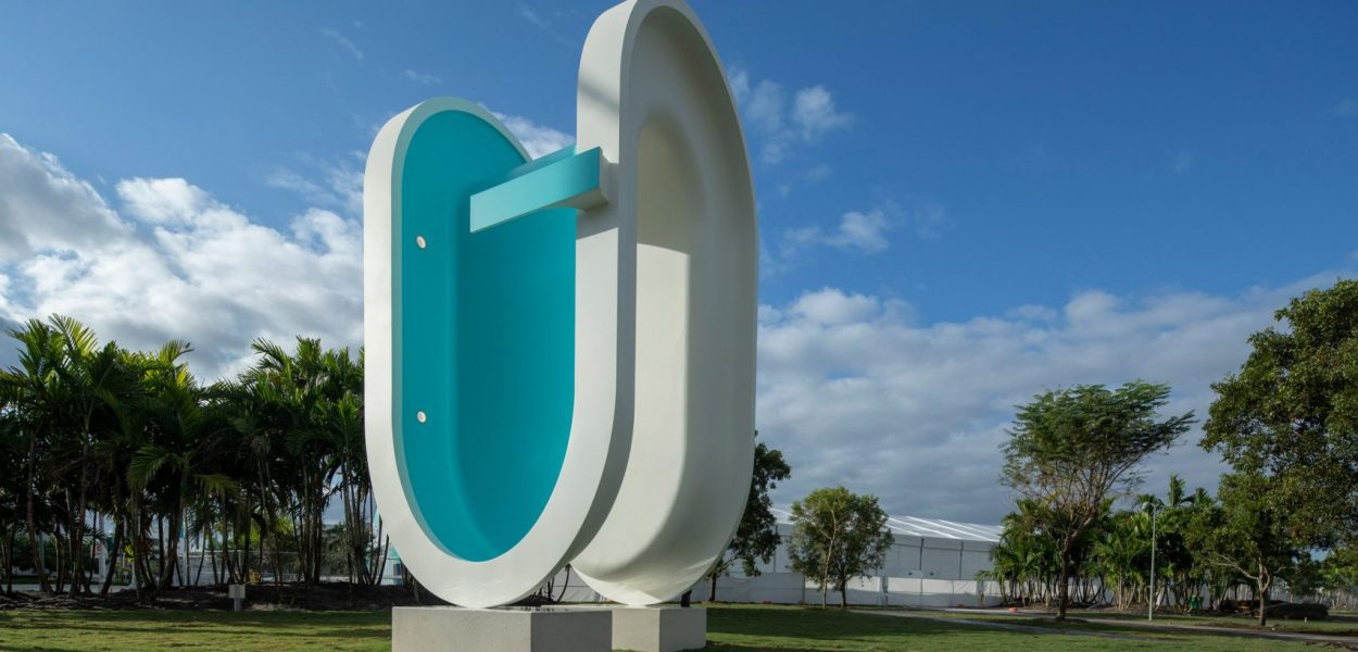 """Bent Pool"" by Elmgreen & Dragset @ Miami"