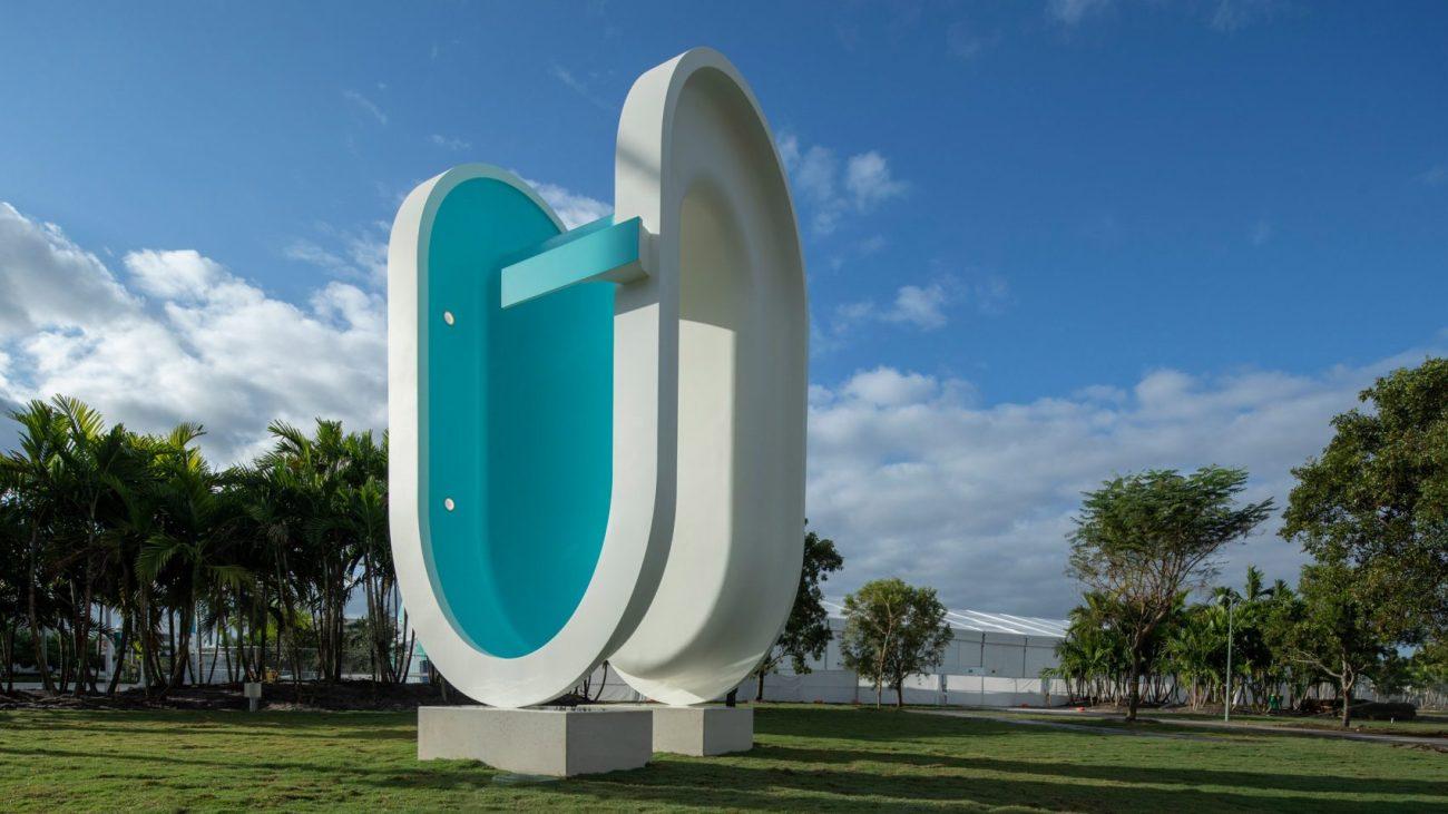 """Bent Pool"" by Elmgreen & Dragset @ Miami"