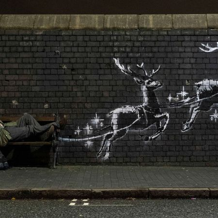 Christmas Mural by Banksy @ Birmingham, UK