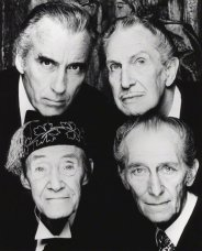 Christopher Lee, Vincent Price, John Carradine e Peter Cushing, 1983