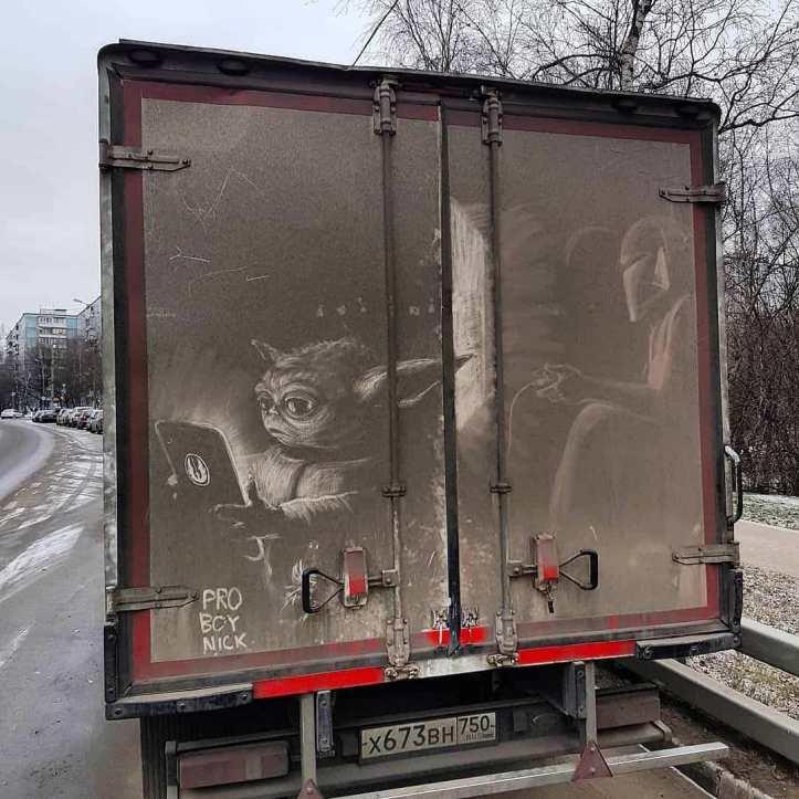 Dirty Car Art by Nikita Golubev in Moscow, Russia