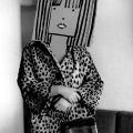 Inge Morath – USA. Untitled. From the Mask Series with Saul Steinberg. 1961.Photograph by Inge Morath/MAGNUM PHOTOS.