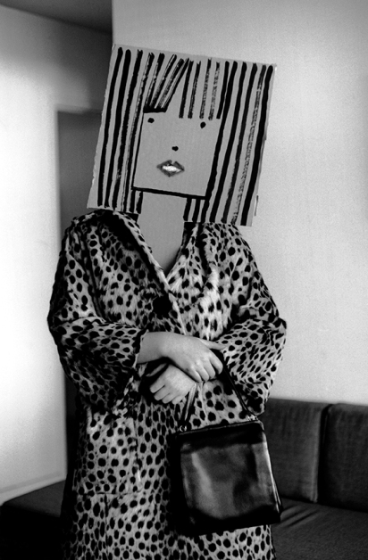 Inge Morath - USA. Untitled. From the Mask Series with Saul Steinberg. 1961.Photograph by Inge Morath/MAGNUM PHOTOS.