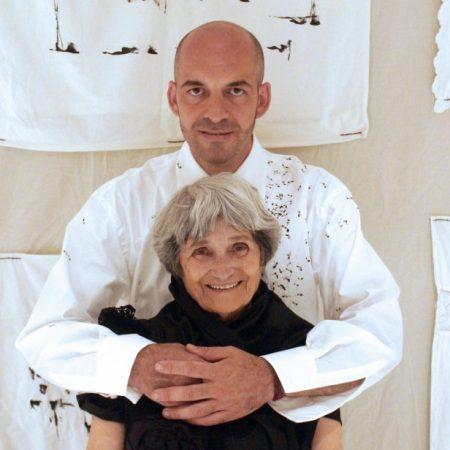 Maria Lai e Antonio Marras (part.), Alghero, 2003 © Daniela Zedda