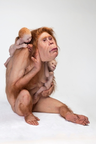 Patricia Piccinini, Kindred, 2018, silicone, fibreglass, hair 103 x 95 x 128cm, Image Courtesy the artist, Tolarno Galleries, Melbourne and Roslyn Oxley 9 Gallery, Sydney