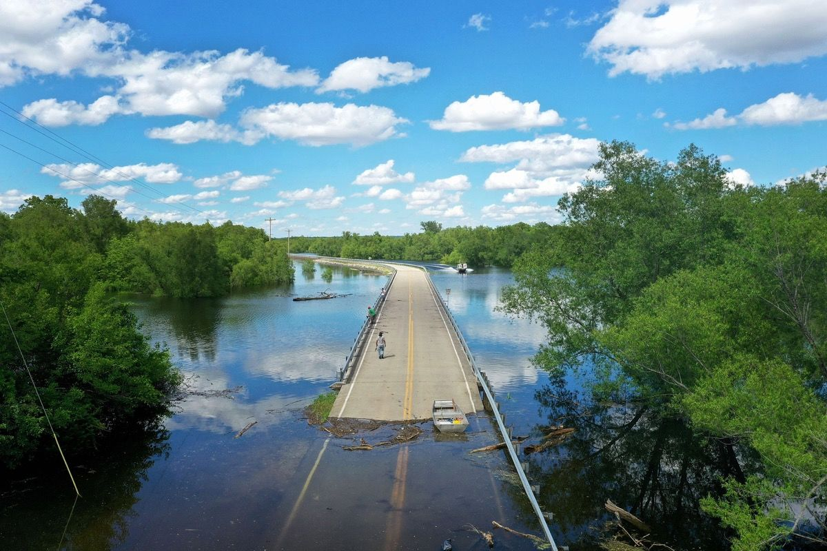 Midwest Rivers Reach Major Flood Stage At Historic Levels. Photo by Scott Olson/Getty Images