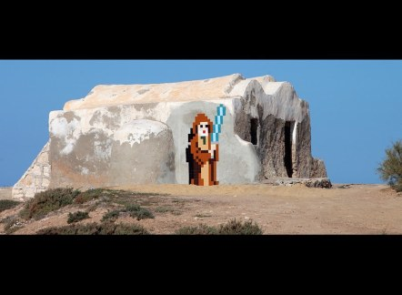 Star Wars Tribute by Invader @ Djerba, Tunisia