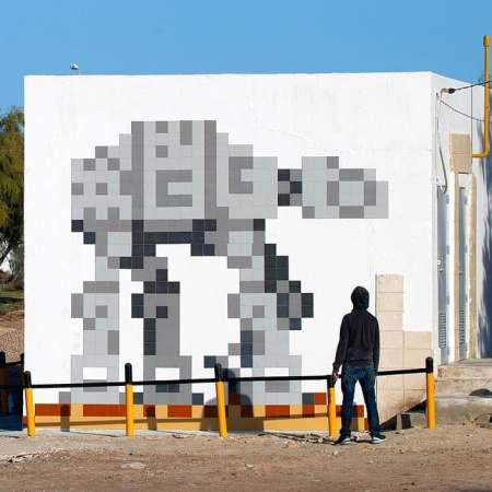 Star Wars Tribute by Invader @ Djerba, Tunisia