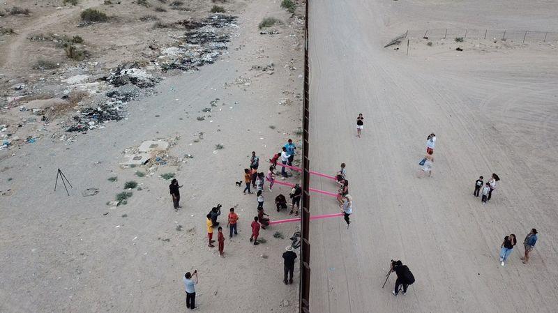 """Teeter-Totter Wall"" by Rael San Fratello @ U.S.–Mexico Border"