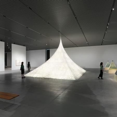 Agnes Denes, Installation view of Agnes Denes: Absolutes and Intermediates, October 9, 2019 – March 22, 2020. Photo: Dan Bradica.