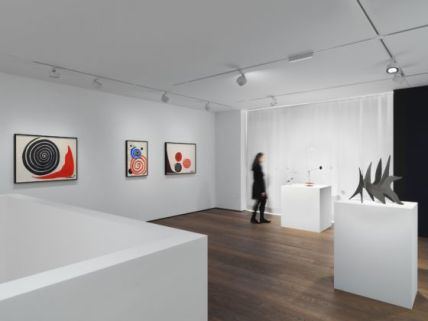 Installation view, 'Calder' at Hauser & Wirth St. Moritz, until 9 February 2020. © 2019 Calder Foundation, New York / Artists Rights Society (ARS), New York / ProLitteris, Zurich. Courtesy the Foundation and Hauser & Wirth