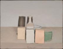 Giorgio Morandi, Natura morta, 1956, olio su tela, 36x45,7 cm, Collezione Mattioli Rossi