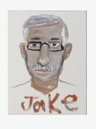 Jake Chapman, Painting for pleasure and profit: a piece of site -specific perfomance - based body art, 44 (Mr. Claudio Palmigiano), 2006, olio, tela e legno, 40,7x30,4 cm, Collezione Claudio e Maria Grazia Palmigiano