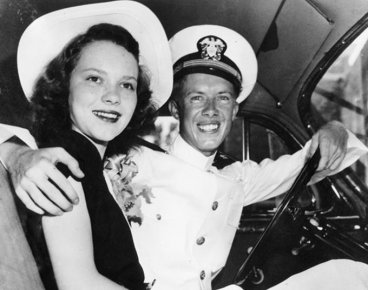 Jimmy e Rosalynn Carter nel giorno del loro matrimonio, 1946