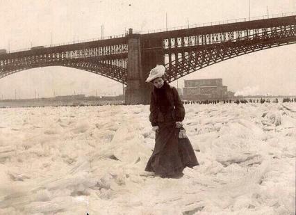 Mississippi River congelato, 1905