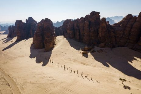 Nadim Karam's On Parade. Photo- Lance Gerber. Courtesy of the artist, RCU and Desert X