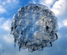 Tomás Saraceno, Se 60 Flying Garden, 2006, 60 palloncini in pvc, elastici, pianta di tillandsia, elio, dimensioni variabili, Collezione Agiverona, courtesy l'artista e Agiverona