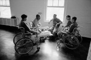A group of amputee Vietnam veterans in hospital in San Francisco, 1967 Photograph: The Life Picture Collection/Getty Images