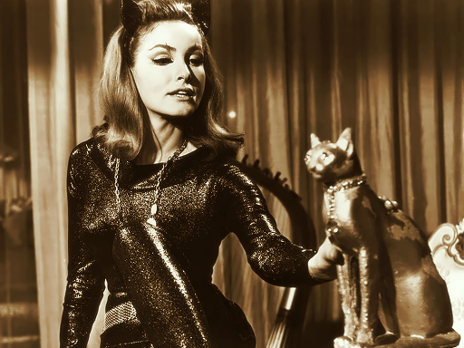 Julie Newmar nelle vesti di Catwoman