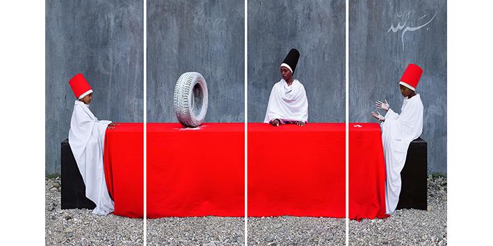 First Lesson (6x3 mt) by Maïmouna Guerresi @ Opera Viva Barriera, Milan, Italy Until April 12, 2020